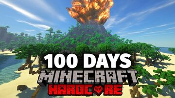 Forge Labs 100 Days deserted island Map Minecraft Map & Project