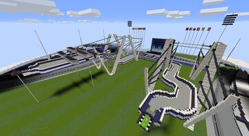 TMNF A01 in Minecraft - Free Running Version - by Petoline [1.16+] Minecraft Map & Project