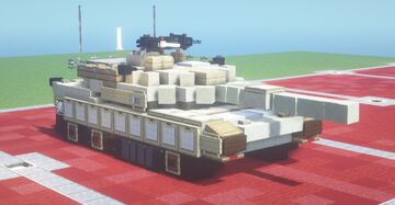 M1A1 Abrams (1.5:1 Scale) Minecraft Map & Project