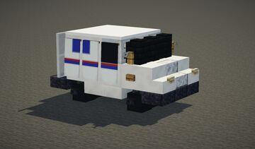 Grumman LLV Mail Truck (USPS) Minecraft Map & Project