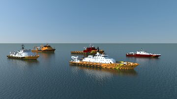 Rescue SAR - Salvage tug (new ship & remake) Minecraft Map & Project