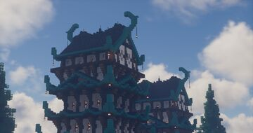 Kunoshi Palace | Japanese themed Minecraft Castle | Builder's Forge Minecraft Map & Project