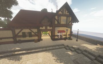 Kiki's Delivery Service Bakery Home - Built with Cocricot mod! (By Eunoiiaa) Version 1.13.3 or 1.12.2 Minecraft Map & Project
