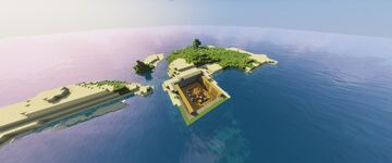 SEED: A stronghold's library open-air on the surface Minecraft Map & Project