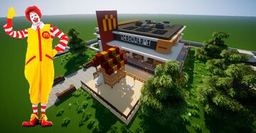 Modern McDonald's - Map download full decorated 🍟🌭🍿 Minecraft Map & Project