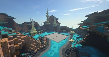 Futuristic prison spawn and a few other things Minecraft Map & Project
