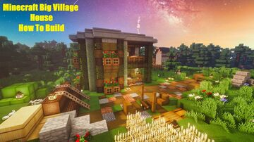 Minecraft | How To Build Big Village House - Tutorial Minecraft Map & Project