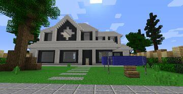 Casa de Suburbio  + Terrain 🏠 Minecraft Map & Project