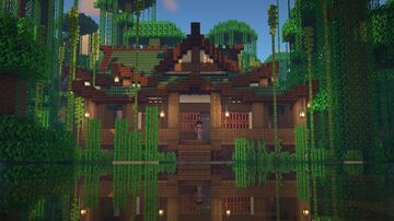 Japanese Traditional House [DECORATED] Minecraft Map & Project