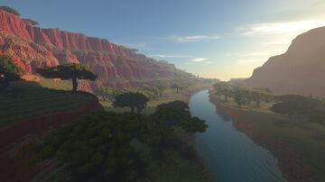Canyon River Terrain Minecraft Map & Project