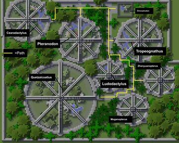 Isla Tacano Aviaries Minecraft Map & Project