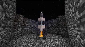 Command Blocks fonctionnal Rocketship Minecraft Map & Project