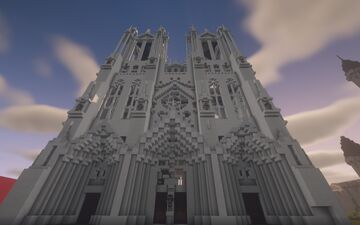 Medieval Gothic Cathedral Minecraft Map & Project