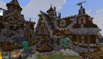 Medieval Alchemist House (Auto Brewing Machine - Cleric Trading) - Build Idea - [World Download] Minecraft Map & Project