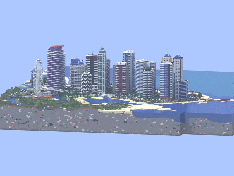 Skyline of the entire city with Chunky