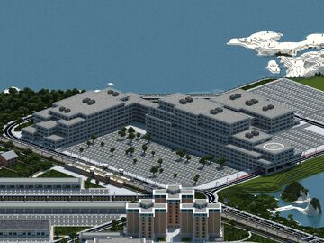 Landport Hospital | Mineopolis and the Countryside Minecraft Map & Project