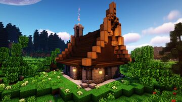 How to build a Survival House / Design 3 Minecraft Map & Project