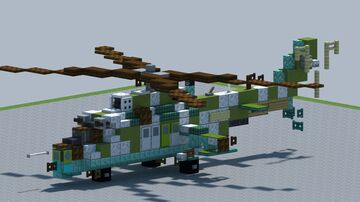 Mil MI-24 Hind helicopter [With Download] Minecraft Map & Project