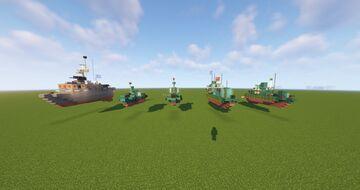 Vietnam-War PBR Fast Boats PACK Minecraft Map & Project