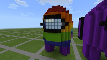 Among Us Rainbow House Minecraft Map & Project