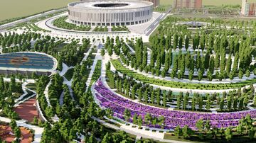 Krasnodar 1 to 1 scale - Краснодар в масштабе 1 к 1 (TeamCIS | СНГ - Build the Earth) Minecraft Map & Project