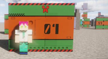 Evangelion door little tiles Minecraft Map & Project