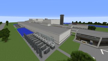 Lancaster point Nuclear power plant Minecraft Map & Project