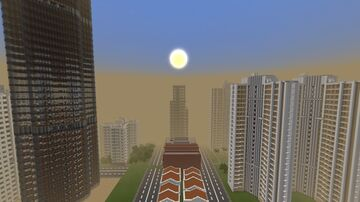 Guangqing City ( Singapore / Hong Kong Inspired ) Minecraft Map & Project