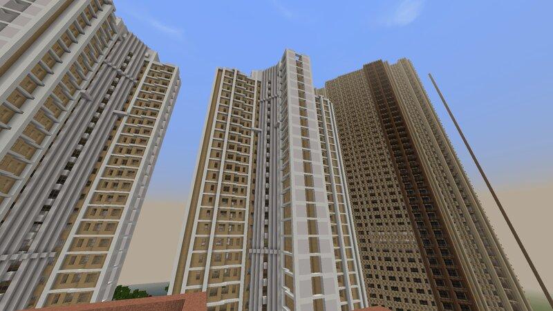 New Singaporean Apartment tower beside Honk Kong public houses