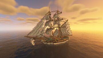 Lady Washington (18th Century Sailing Ship) Minecraft Map & Project