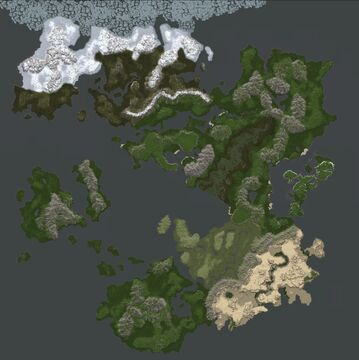 Horvalen, Huge 16k x 16k custom map for Conquest Reforged Minecraft Map & Project