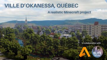 Okanessa | A realistic Quebec-Themed city project | ERT Minecraft Map & Project