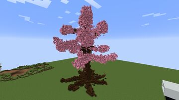 a pink leaf tree Minecraft Map & Project