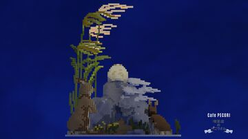 Rabbits and the moon Minecraft Map & Project