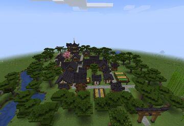 Asiatisches Villager Dorf Minecraft Map & Project