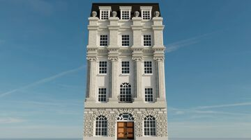 22 Baker Street - 4:1 Scale Neo-classical Victorian Townhouse Minecraft Map & Project