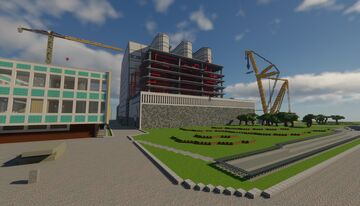 Italian nuclear power plant Latina (centrale nucleare di latina) Minecraft Map & Project