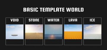 Basic Template World for Bedrock [Void, Stone, Water, Lava, Ice, etc.] Minecraft Map & Project