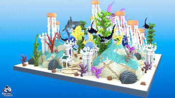 HCF Spawn + Road - AQUATIC Theme Minecraft Map & Project