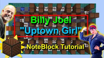 """""""Uptown Girl"""" Note Block Doorbell - Perfect for a survival house! Minecraft Map & Project"""