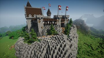 Mountain Castle (All decorated) Minecraft Map & Project