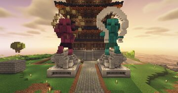 Fujin and Raijin Minecraft Map & Project