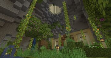 semi-underground mansion! small on the outside, big on the inside + hidden secret Minecraft Map & Project