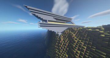 Modern Coastal House Exterior Minecraft Map & Project