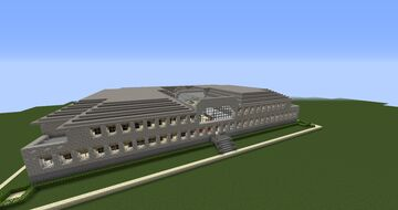 modern 2 story library Minecraft Map & Project