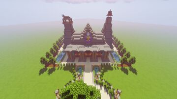 (WORLD DOWNLOAD!!!) The Great Library, a fully hand built 9 hour library with gardens, two towers, and a complete, detailed interior. (With a dark secret...) Minecraft Map & Project