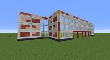 | Soviet Moscow school | Московская школа Советской постройки | Minecraft Map & Project