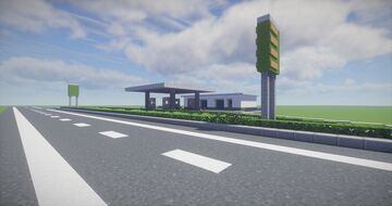 Gas station Minecraft Map & Project