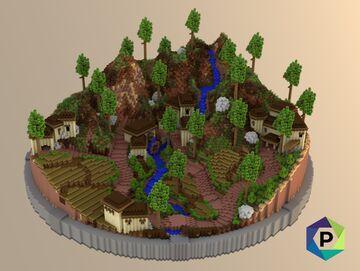 Mediterranean Valley Hub | 1.8+ Minecraft Map & Project