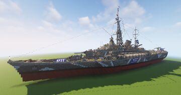 Hellas Class Battleship (Fictional) Minecraft Map & Project